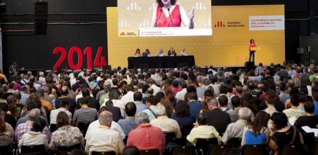 Subtitulació en directe, en mode de traducció, a la Conferència Nacional d'ERC