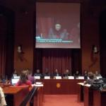 Subtitulación en el Parlamento, comparecencias sobre la Ley de Ocupación