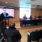 Accessibilitat a la roda de premsa de la ILP per modificar la llei de la dependència