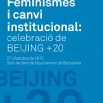 """Transcribimos en directo la jornada """"Feminismos y cambio institucional""""."""