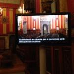Subtítulos en directo en la entrega del premio Alfonso Comín a Maria Victoria Molins