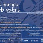 """Subtitulado de la Jornada """"Una Europa con valores"""""""