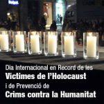 Acto en memoria de las víctimas del Holocausto en el Parlamento de Cataluña